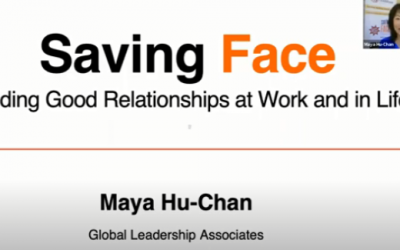 Saving Face:  Building Good Relationships at Work and In Life